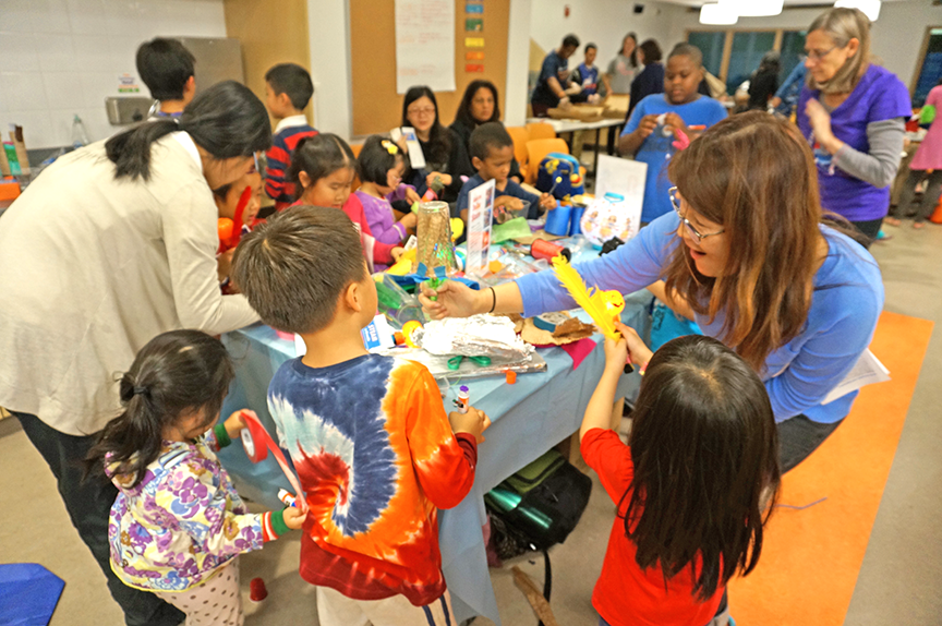 STEAM night families engaged