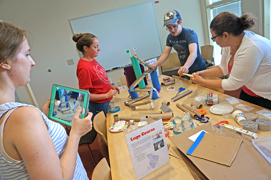 Lesley students engage in engineering challenge
