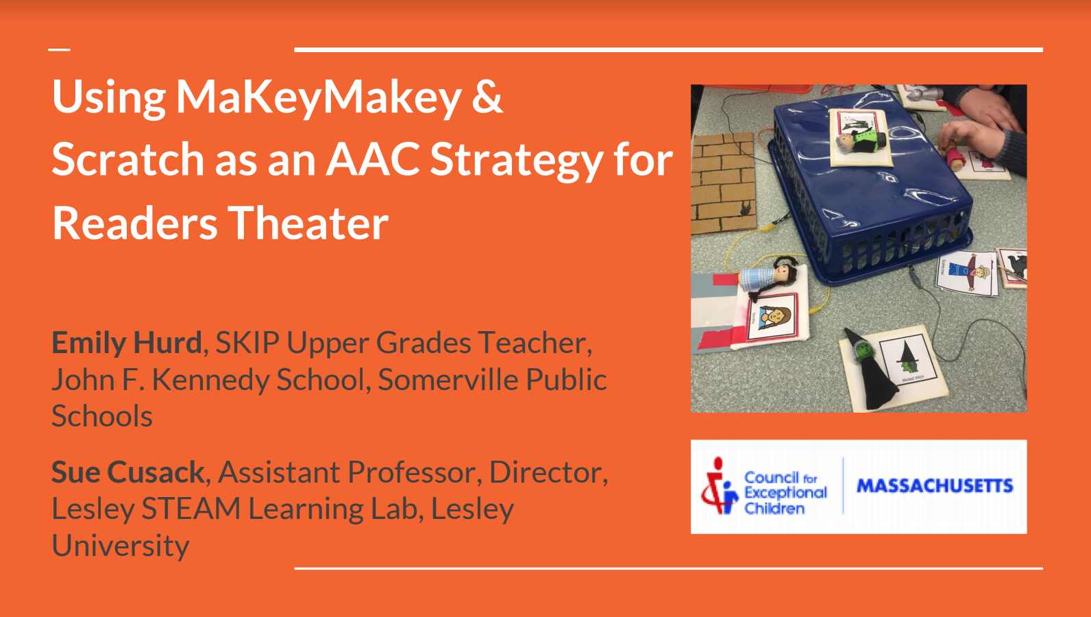 Using MakeyMakey & Scratch as an AAC Strategy for Readers Theater Banner