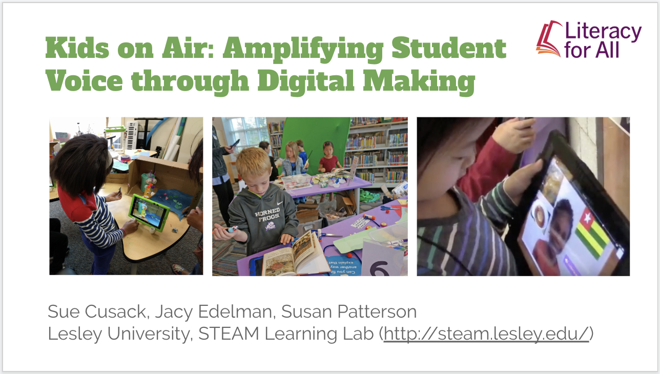 Kids on Air: Amplifying Student Voice through Digital Making
