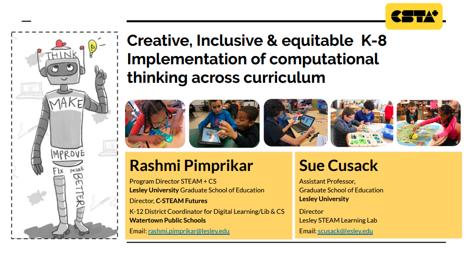 Creative, Inclusive & Equitable K-8 Implementation of Computational Thinking Across Curriculum