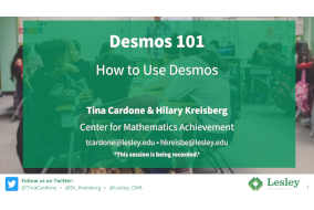How to use desmos title slide