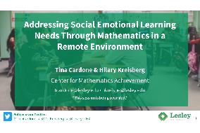 Math Talks in a Remote Environment title slide